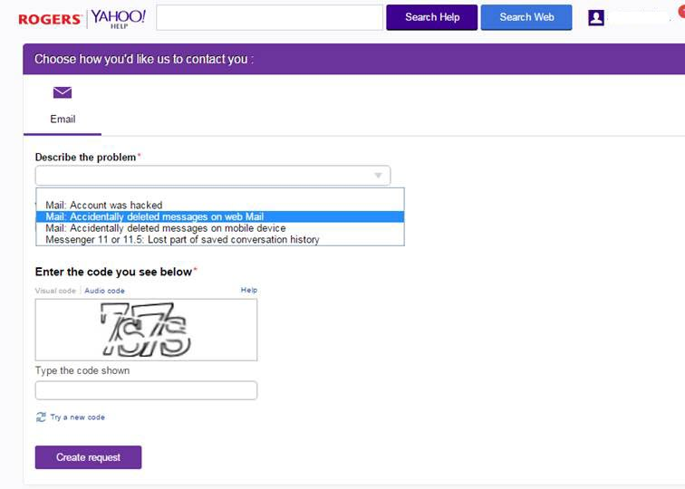 yahoo mail recover old account