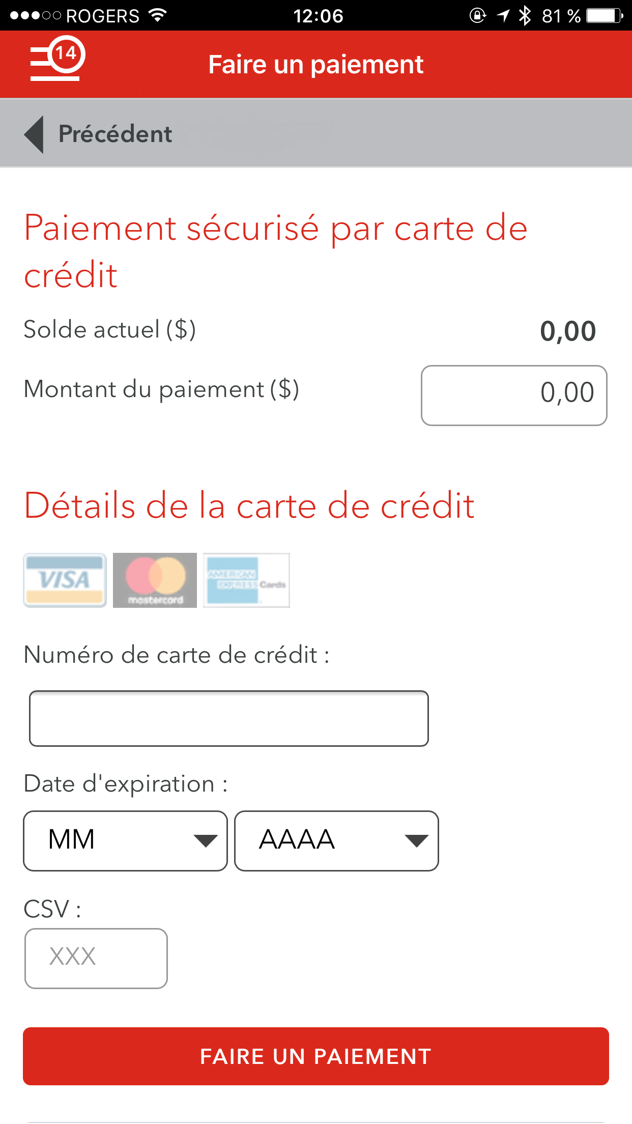 MyRogers App - Payment Screen - No Account Numer - French.png