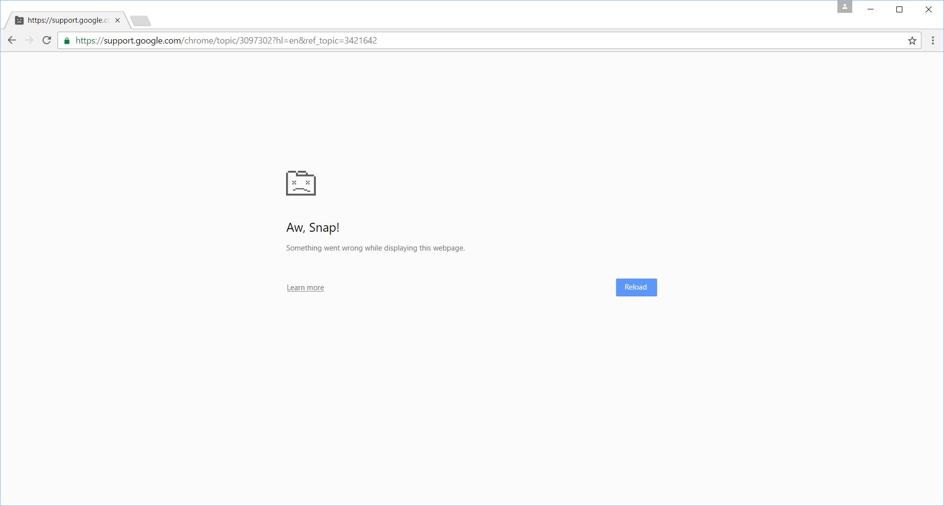 Google hang up - Aw, Snap.png