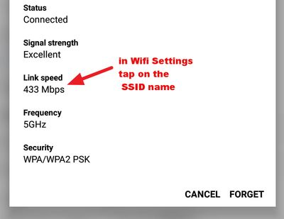 Link speed on WiFi 802.11Ac/5Ghz