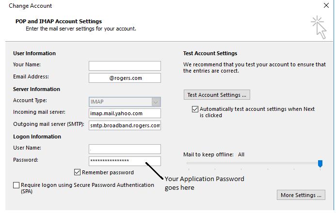 Solved: IMAP Settings  - Rogers Community
