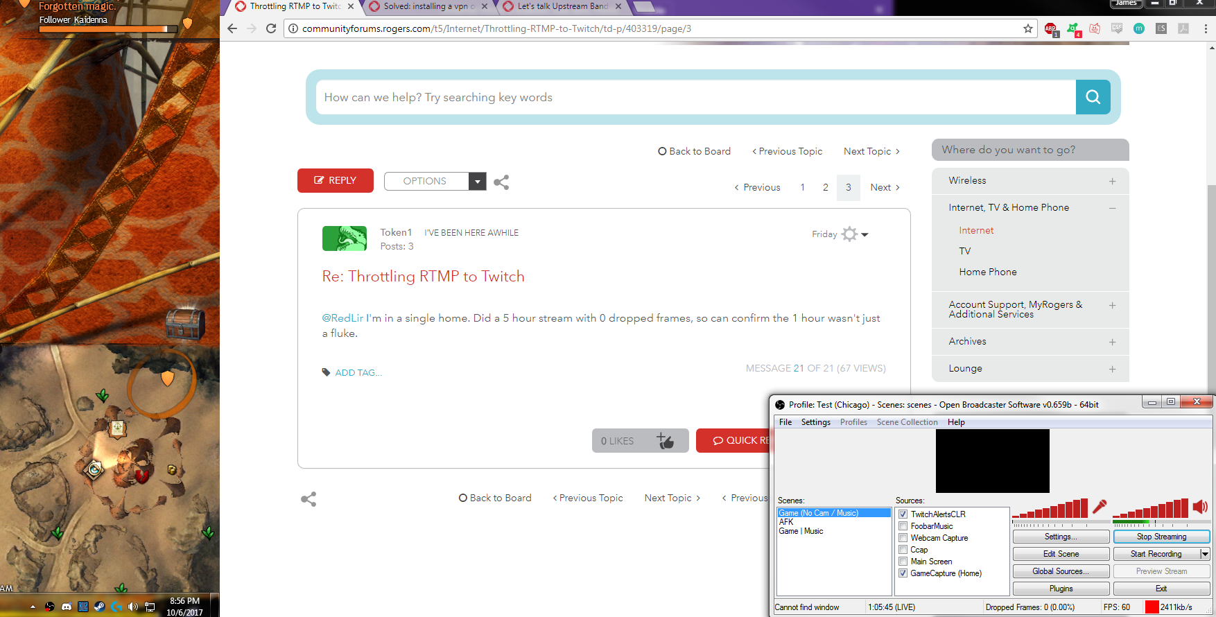 Throttling RTMP to Twitch - Page 9 - Rogers Community